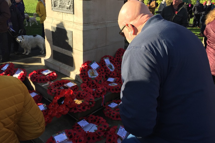 Reflection and remembrance in Colwyn Bay
