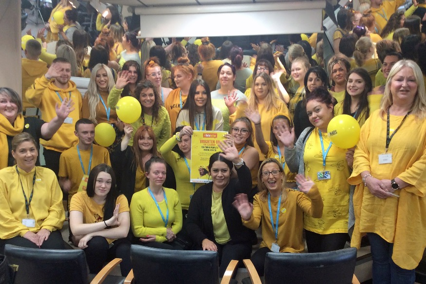 Hair students go yellow for mental health charity