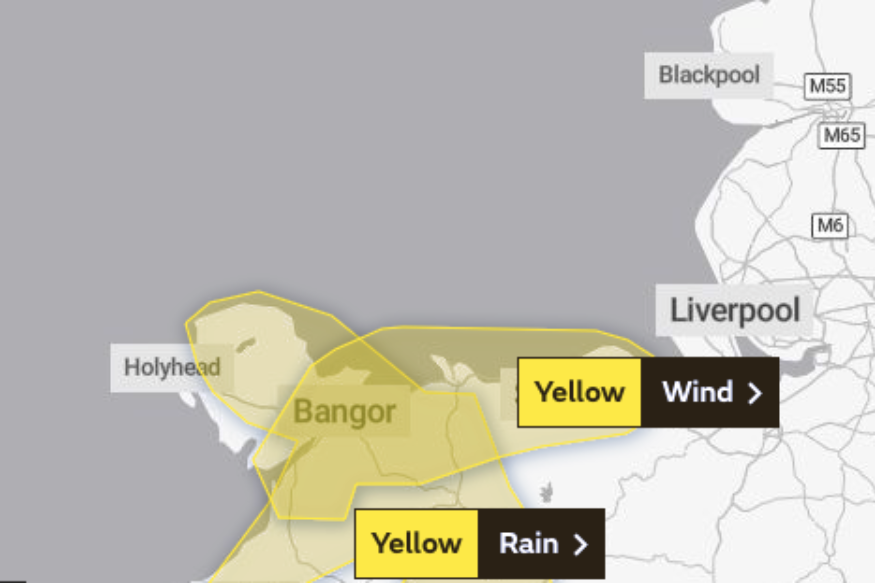 Yellow warning: More high winds and heavy rain for the coast